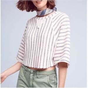 DOLAN Anthro Cropped Sweatshirt Striped Medium 8